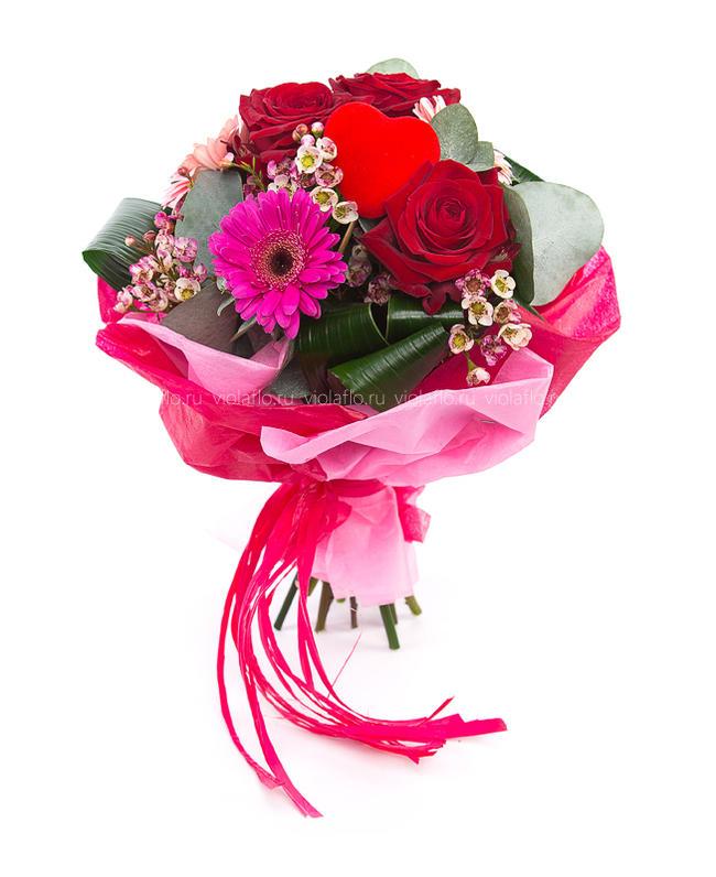 Букет цветов и адреса
