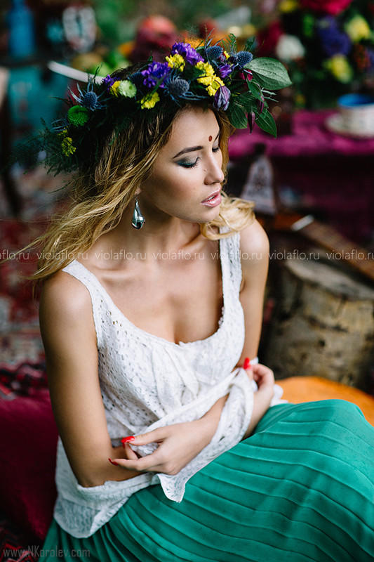 """Венок для невесты """"Богемный"""""""