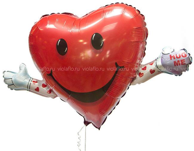 Шарик-сердце «Обними меня»
