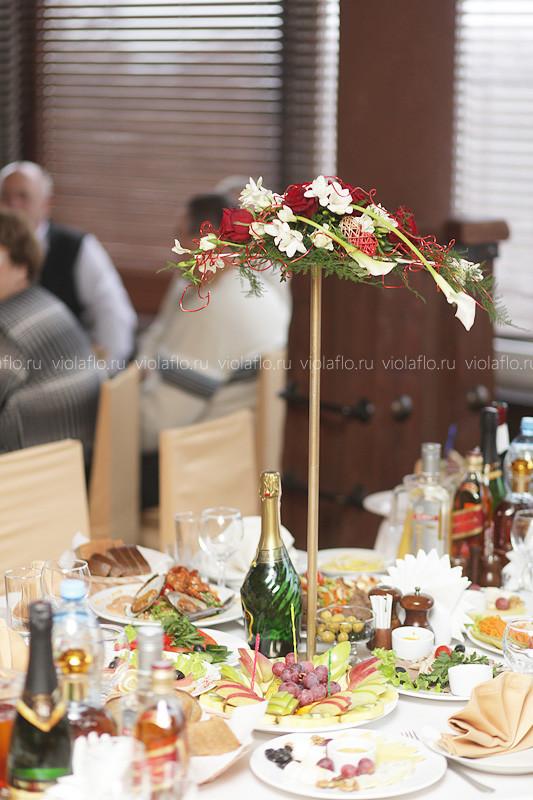 Свадебное оформление зала в ресторане «Пират»
