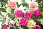 Корзина цветов «Розовая пантера»