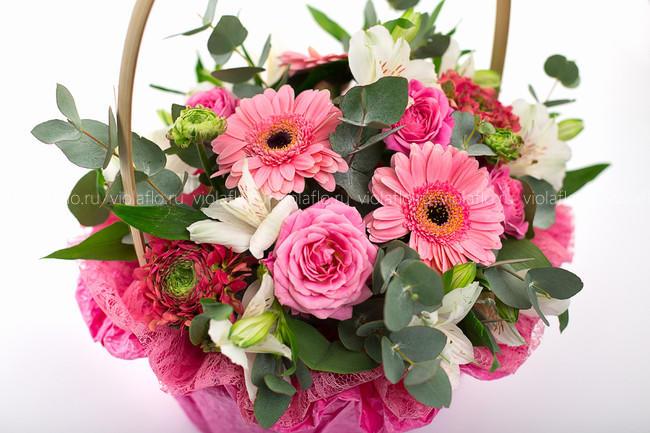 Корзина цветов «Винтаж»