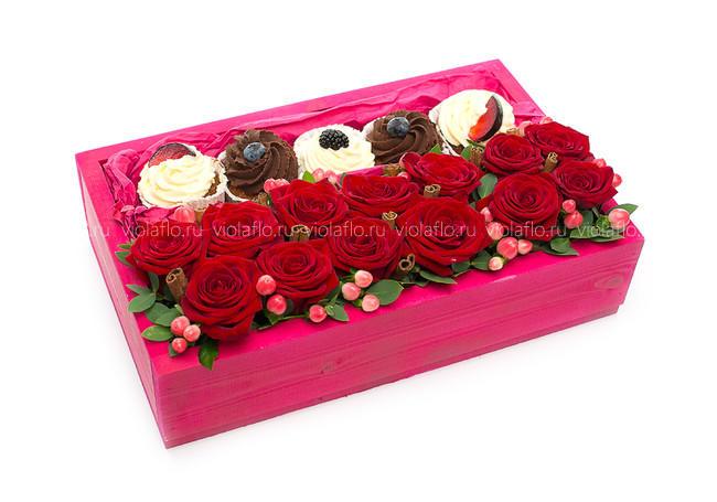 Композиция «Цветочный десерт»