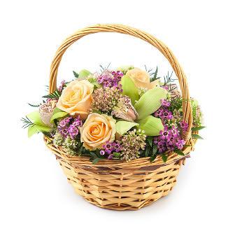 Корзина цветов «Ванесса»