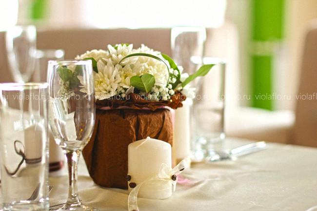 Оформление свадьбы цветами в Atrium Lounge cafe