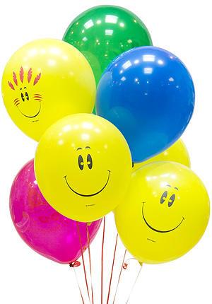 Воздушные шарики с улыбкой
