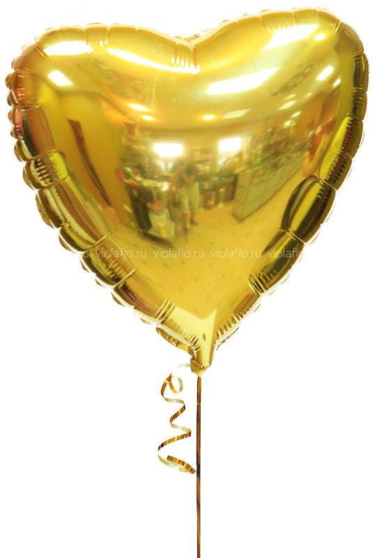 Воздушный шарик «Золотое сердце»