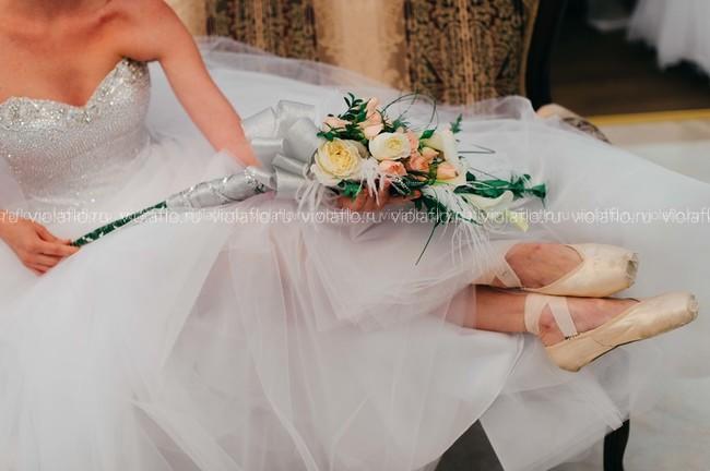 """Свадебный букет """"Балерина"""""""