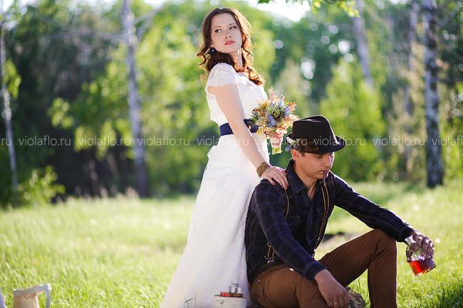 Букет невесты в стиле «Кантри»