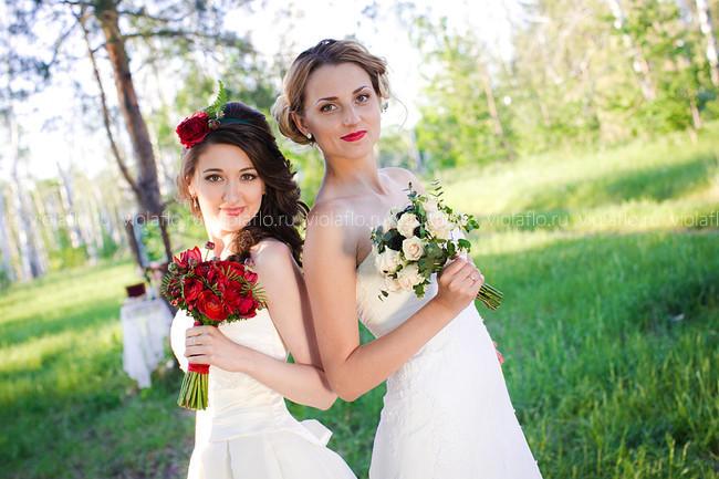 Чувственный свадебный букет