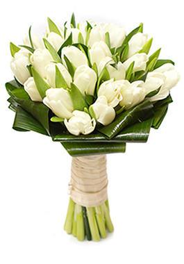 Букет из белых тюльпанов «Свидание»