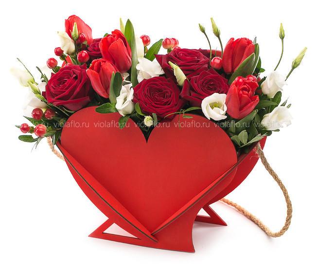 Композиция «Красное сердце»