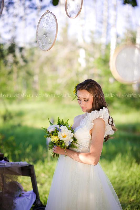 Мечтательный свадебный букет
