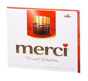Коробка конфет «Merci»