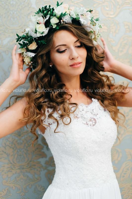 Венок для невесты «Лесная нимфа»