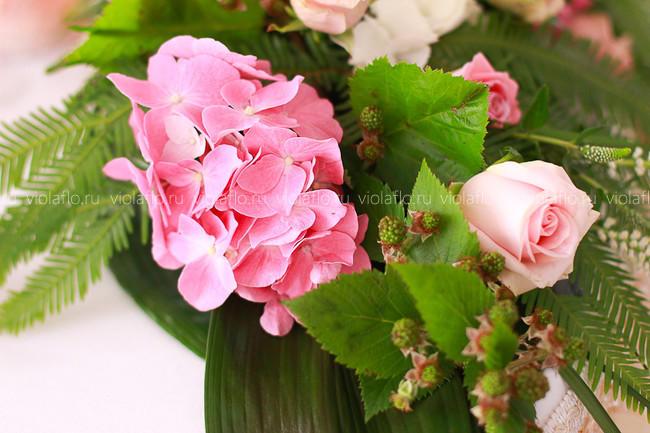 Оформление цветами зала РБО «Лесная»