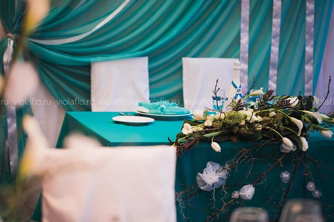 Оформление свадьбы в бирюзовом цвете