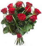 Букет роз с берграсом