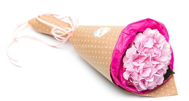 Букет «Розовая гортензия»