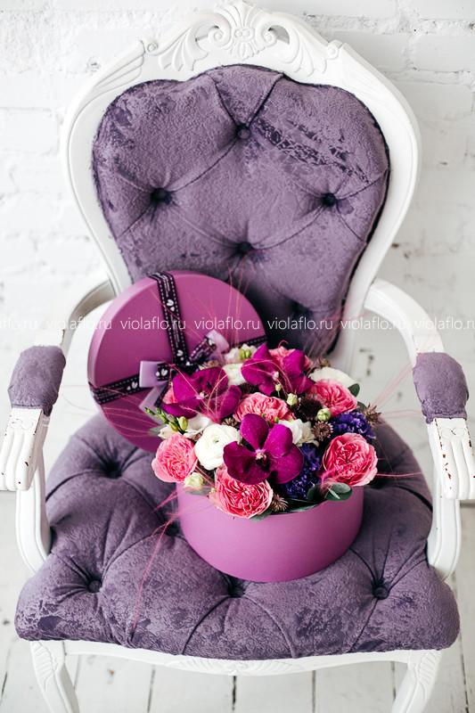 """Композиция """"Фиолетовый презент"""""""