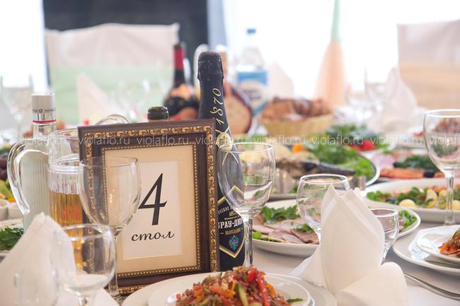 Оформление свадьбы цветами в ресторане «Наместник» в Тамбове