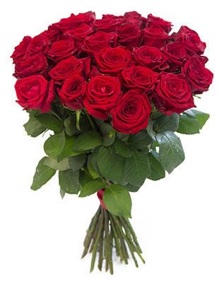 Красные розы Россия 50-60 см