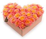 Композиция «Персиковое сердце»