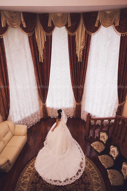 Свадебный букет с ежевикой в стиле Шебби-шик