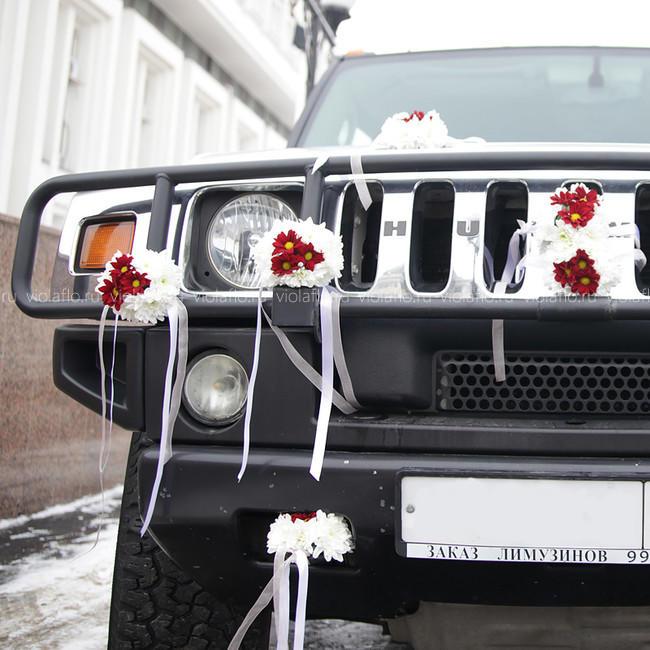 Свадебное украшение лимузина Хаммера