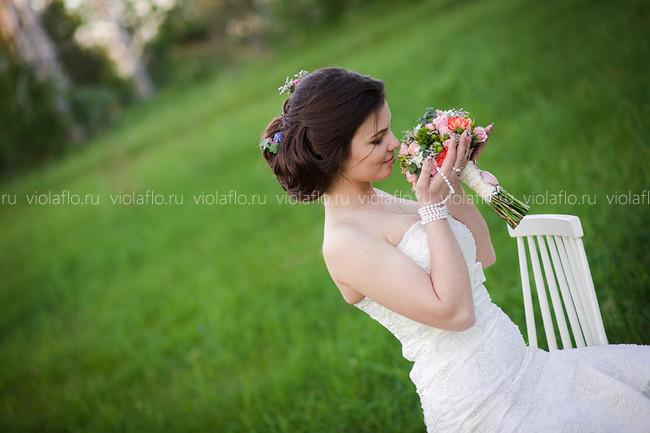 Винтажный свадебный букет в Тамбове, букет в стиле винтаж